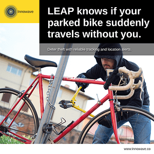 Improving Lifestyle for People: LEAP knows if your parked bike suddenly travels without you